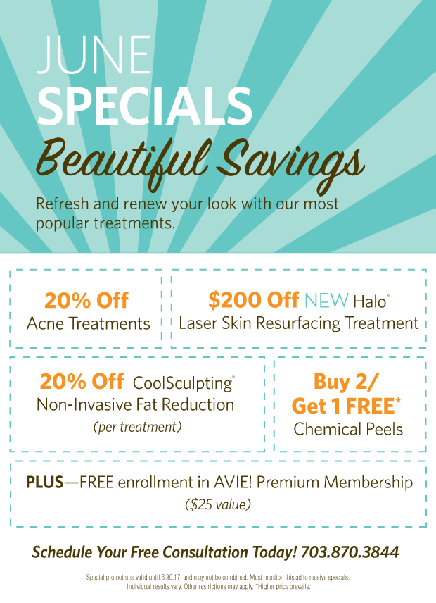 Check out Avie's June 2017 Specials!