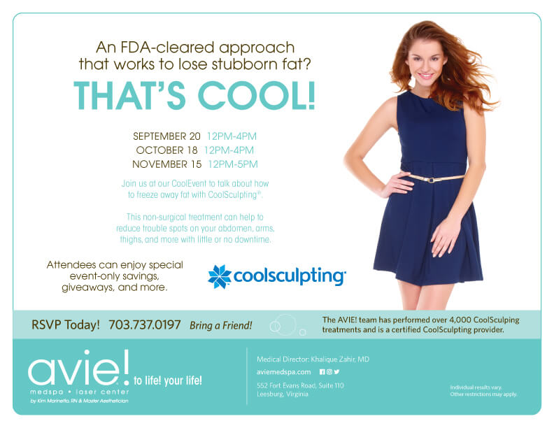 Avie MedSpa specials for the months of September, October, November