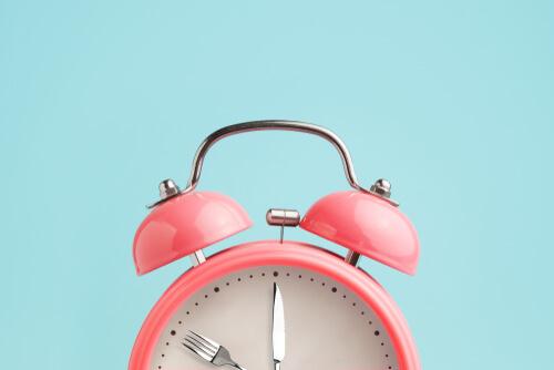 A pink clock