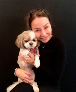 Owner Kim Marinetto with her dog