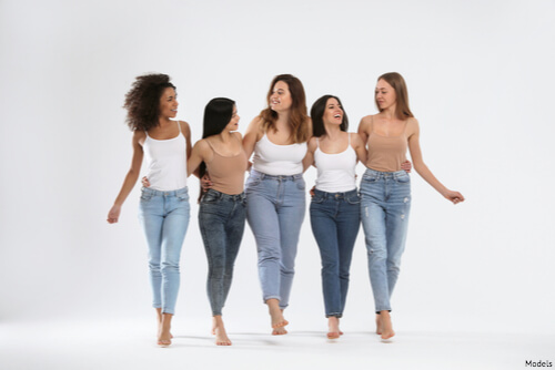 Group of women walking together